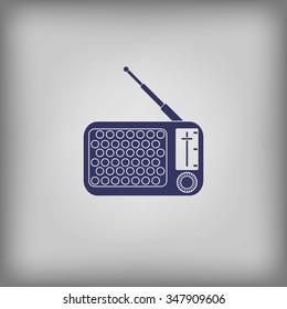 A radio icon silhouette