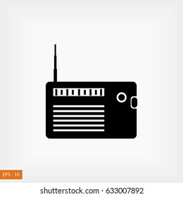 radio icon vector, flat design best vector icon