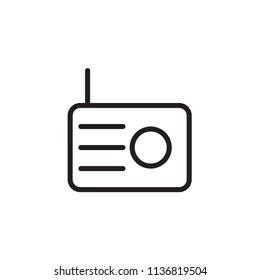 Radio icon Vector illustration, EPS10.