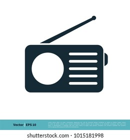 Radio Icon Vector Logo Template