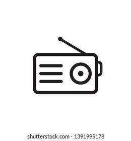 radio icon vector logo template