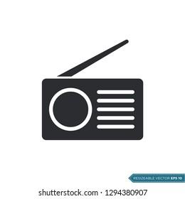 radio icon vector template
