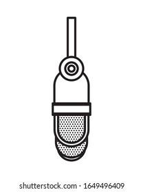 radio microphone retro hanging icon vector illustration design