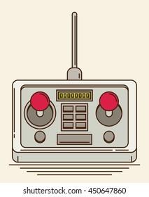 Radio remote control. Flat vector.