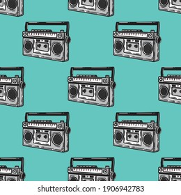 radio seamless pattern in classic style