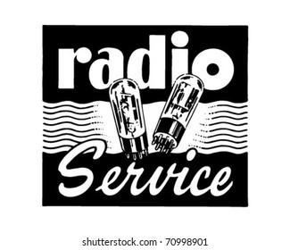 Radio Service - Retro Ad Art Banner