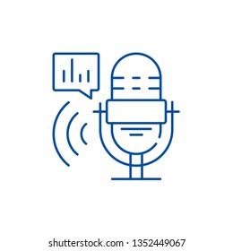 Radio show line icon concept. Radio show flat  vector symbol, sign, outline illustration.