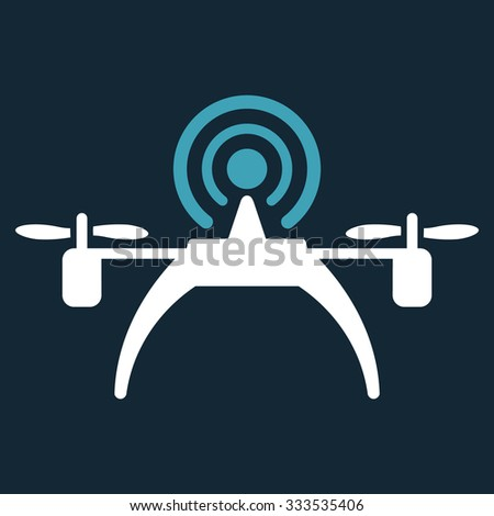 Radio Source Drone Vector Icon Style Stock Vector (Royalty Free