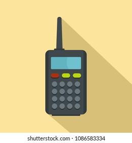 Radio station icon. Flat illustration of radio station vector icon for web design