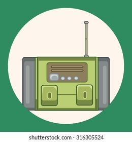 radio theme elements vector,eps