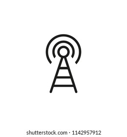 Radio tower line icon. Wave, receiver, technology. Station concept. Vector illustration can be used for topics like wi-fi, connection, telecommunication