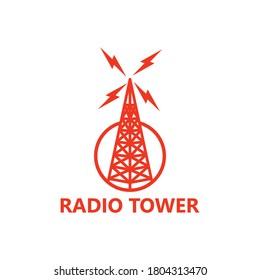 Radio Tower Logo Template Design Vector