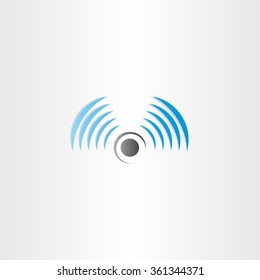 radio waves vector logo icon antenna