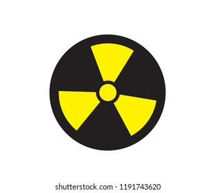 Radioactive alert sign with label for print and digital content