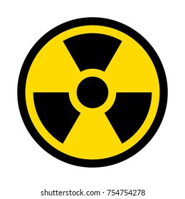 Radioactive contamination symbol. Vector illustration.