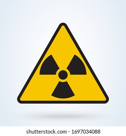 Radioactive contamination in the triangle sign. Danger symbol. Vector illustration