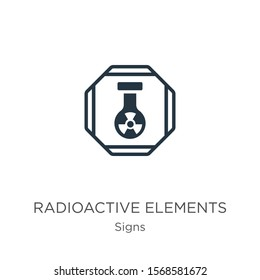 Radioactive elements icon vector. Trendy flat radioactive elements icon from signs collection isolated on white background. Vector illustration can be used for web and mobile graphic design, logo,