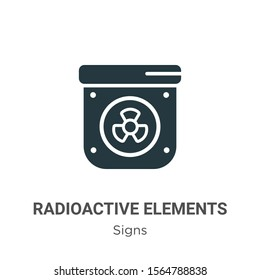 Radioactive elements vector icon on white background. Flat vector radioactive elements icon symbol sign from modern signs collection for mobile concept and web apps design.