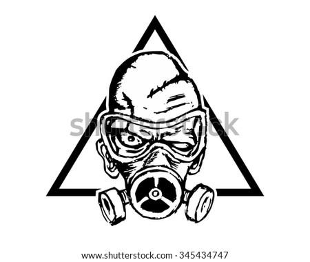 radioactive evil zombie logo icon vector stock vector royalty free Mutated Zombie radioactive evil zombie logo icon vector character illustration
