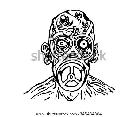 radioactive evil zombie logo icon vector stock vector royalty free Zombie Quarantine Sign radioactive evil zombie logo icon vector character illustration