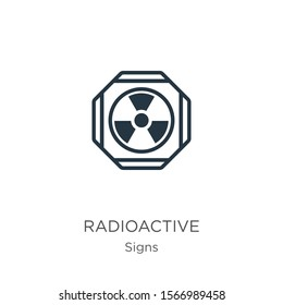 Radioactive symbol icon vector. Trendy flat radioactive symbol icon from signs collection isolated on white background. Vector illustration can be used for web and mobile graphic design, logo, eps10