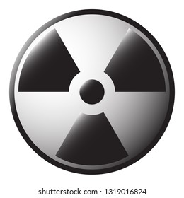 A radioactive symbol isolated on a white background