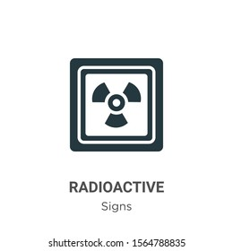 Radioactive symbol vector icon on white background. Flat vector radioactive symbol icon symbol sign from modern signs collection for mobile concept and web apps design.