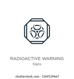 Radioactive warning icon vector. Trendy flat radioactive warning icon from signs collection isolated on white background. Vector illustration can be used for web and mobile graphic design, logo, eps10