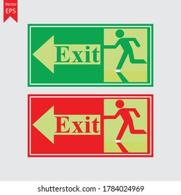 Radium sticker exit sign entry and exit Arrow direction.