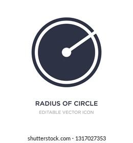 radius of circle icon on white background. Simple element illustration from Shapes concept. radius of circle icon symbol design.