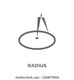 Radius icon. Radius design concept from Geometry collection. Simple element vector illustration on white background.