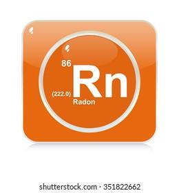 radon chemical element button