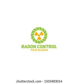 Radon Control Logo Design Vector
