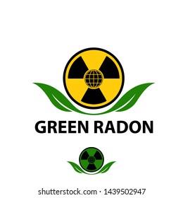 Radon with green leaf vector illustration
