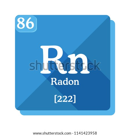 Radon Rn Element Periodic Table Flat Stock Vector Royalty Free