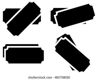 Raffle ticket symbols. set of 4 version