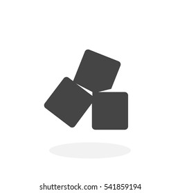 Rafinated sugar Icon. Vector logo on white background