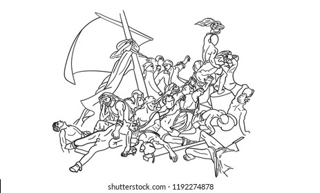 The Raft Of Medusa Sketch