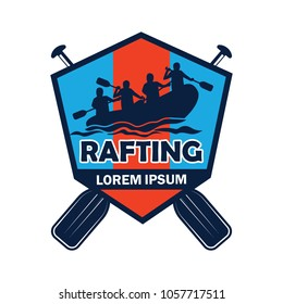 rafting logo with text space for your slogan / tag line, vector illustration