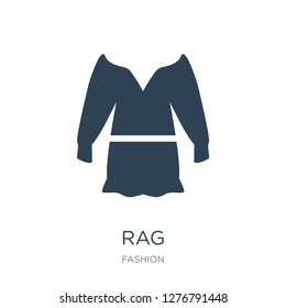 rag icon vector on white background, rag trendy filled icons from Fashion collection, rag vector illustration