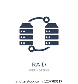 Raid icon. Trendy flat vector Raid icon on white background from web hosting collection, vector illustration can be use for web and mobile, eps10
