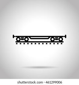 rail car flat line icon
