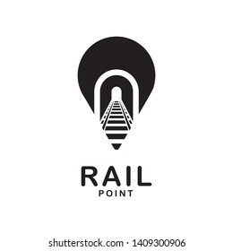 rail with track point logo design template