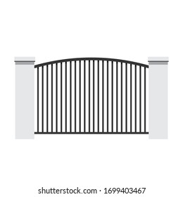 Railing vector. Railing vector on white background. wallpaper. free space for text.