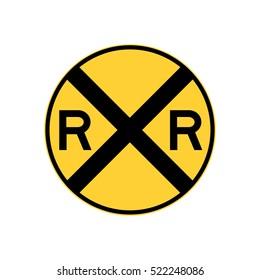 railroad crossing sign, U.S. railroad
