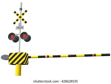 Railway Crossing Gate Images, Stock Photos & Vectors