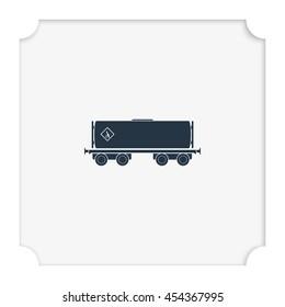 Railroad tank icon.