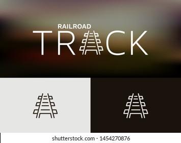 Railroad Tracks Icon/Logo, monoline concept