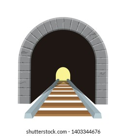 Railroad tunnel vector design illustration isolated on white background