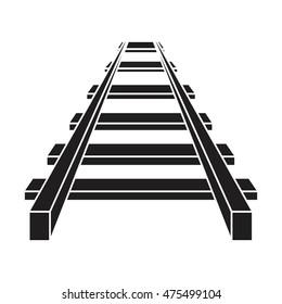 Railroad vector icon , railway icon
